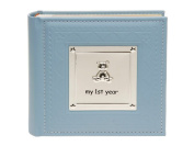 """My 1st Year"" Baby Boy Blue Keepsake Photo Album By Haysom Interiors"