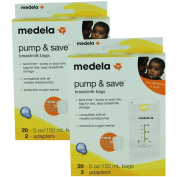 Medela Pump & Save Breastmilk Bags - 20 Pack