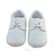 Elee Vintage Baby Faux Leather Sneakers Non Slip Crib Shoes Loafers Shoe with Tie