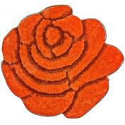 Super Soft Solid Colour Area Rug - Modern Rose Flower Shaped Shag Cosy 90cm floor Mat with 3D affect, Decorative Floral Carpet For Kids Room Boys & Girls, Living Room or Bathroom Home carpet, Made of 100% Polyester