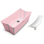 Stokke Flexi Bath in Pink with Newborn Support