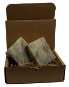 Merry Mistletoe Soap - Handmade, All Natural - Vegan / 2 Bars, Limited Edition Holiday Soap