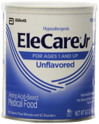 6 Cans EleCare Jr Amino Acid Based Medical Food, Ages 1+, Unflavored 420ml