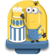 Wilton 2811-4600 Despicable Me Minions Birthday Candle, Multicolor