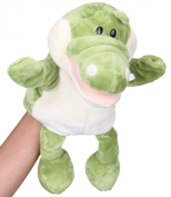Flexibuy 30cm Babies Toddlers Velour Cute Crocodile Alligator Full Body Hand Puppet Toys