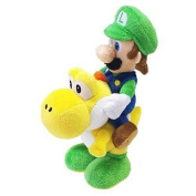 Nintendo Official Super Mario Luigi Riding Yoshi Plush, 20cm