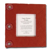 """Picture frame """"Recycling"""", medium, red"""