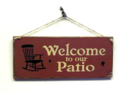 Wooden Patio Sign, Welcome to Our Patio / House Sign, Gift Sign