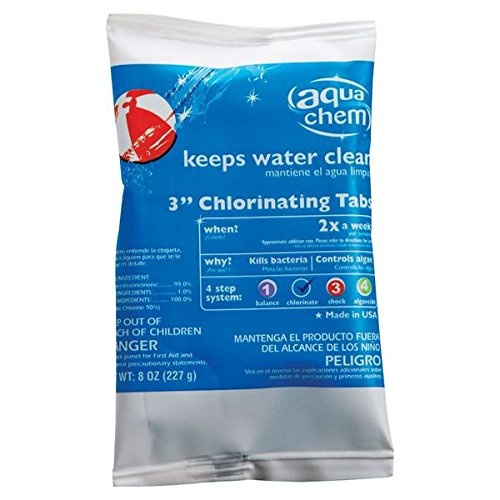 Fountain Water Feature Water Treatment Aqua Chem Tablets Stabilised Chlo