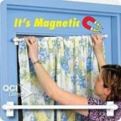 Magnet Rod Cafe Curtain Rod-Ivory