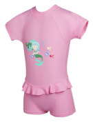 Baby Girls Pink All In One UV Sun Protection Sunsuit UPF50+ 12-18 months