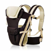 Ubesta Baby Carrier Breathable Multifunctional Adjustable Front Facing Infant Comfortable Sling Backpack-Khaki