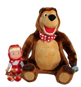 "Masha and the bear XXL SET 18.9"" + 11.4"" (48cm + 29cm)"
