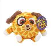 Zigamazoo New Snuggables Ziggle and Giggle Soft Teddy Toy 3+ Orange and Yellow