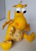 Sitting Dragon Toy, yellow