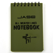 Cosmos ® Set of 6 Green Waterproof/all Weather/shower/aqua Notes/notepad/notebook with Cosmos Fastening Strap