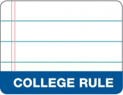 TOPS The Legal Pad Legal Pad, 22cm x 28cm , Gum-Top, White, College Rule, 50 Sheets per Pad, 12 Pads per Pack