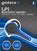 Gioteck LP-1 Bluetooth Chat Headset (PS4) - Blue