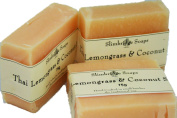 Tripple Pack - Handmade Natural Lemongrass & Coconut Soap Bar -Rosacea / Thread and Spider Veins Calming, Acne - 75g