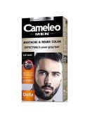 Moustache and Beard Black Colour Cream - Effective cover grey hair. & Results visible already after 5 minutes