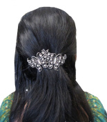 Sufias Accessories Bridal Wedding Prom Silver Crystal Vintage Butterfly Barrette Hair Clip Grip