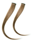 Clip in Hair Extensions for Nice Highlights in your Hair in Just 5 Minutes 2 braids with a clip in brown. 60 cm long