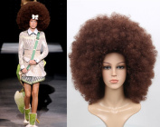 Deluxe Brown Extra Large Full Catwalk Fashion Afro Wig
