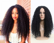 Super Deluxe Long Black Curly Full Fashion Afro Wig