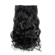 Clip in Human Hair Extensions-High Quality Remy Synthetic Fibre Wigs 120g Weight