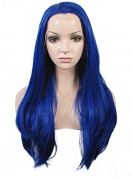 IMSTYLE®New Colour Synthetic Lace Front Wig Deep Blue Colour Silky Straight Cosplay Party Wig