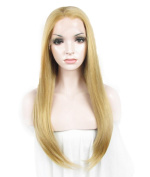 IMSTYLE®Bright Coloured Lace Front Wig Synthetic Long Silky Straight Texture Charming Colour for Party Lace Front Wig