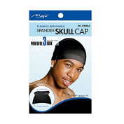 Magic Collection Spandex Skull Cap Flexible/Breathable No.4764BLA