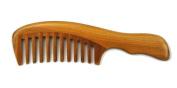 Meta-C Natural Green Sandal Wood Handmade Wave Comb