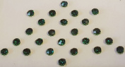 Dot bindi Dark green Crystals