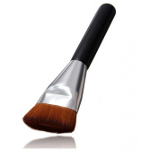 LyDia® Professional Black Flat Face Contour Foundation/Concealer/Blush/Bending Fan Brush F-018