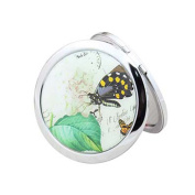 VENI MASEE® Double-sided Compact Mirror (10x magnifying glass with), Random Butterfly Pattern Folding Mirror, Gift Ideas