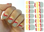 Full Wrap Nail Art Water Transfer Decal Sticker KH001A Nail Sticker Tatto - FashionLife