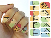 Full Wrap Nail Art Water Transfer Decal Sticker KH003A Nail Sticker Tatto - FashionLife