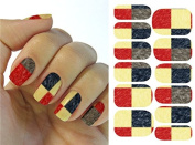Full Wrap Nail Art Water Transfer Decal Sticker KG025A Nail Sticker Tatto - FashionLife