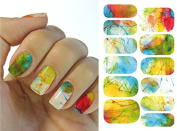 Full Wrap Nail Art Water Transfer Decal Sticker KH013A Nail Sticker Tatto - FashionLife