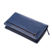 Teemzone Mens Genuine Leather Clutch Bag Pocket Organiser Chequebook Wallet Card Case