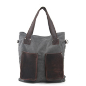 Nasis Vintage Canvas Leather Shoulder Laptop Messenger Travel Outdoor Bag AL4131