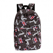 SONGQEE(TM) Lady Girl Canvas Union Jack Style School Backpack Shoulder Bag Outdoor Bag