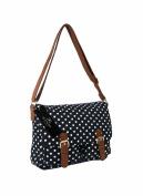 Ladies Womens Girls Satchel Cross Body Bag Canvas Messenger Bags Polka Dot QL5152M