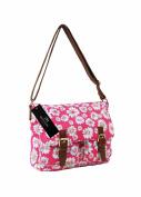 Ladies Womens Girls Satchel Canvas Cross Body Bag Messenger Bags Daisy Print QL5151M