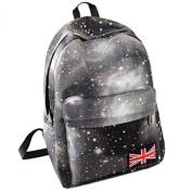 TOOGOO(R) Women Floral Vogue Backpack Lady Travel Canvas Totes Shoulder Bag New black