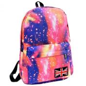 TOOGOO(R) Women Floral Vogue Backpack Lady Travel Canvas Totes Shoulder Bag New pink
