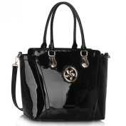 Ladies Patent Fashion Tote Bags With Long Strap Women's Trendy Hot Selling Celebrity Handbags CWS00365