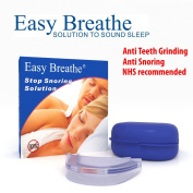 EasyBreathe Mouthpiece With Anti-Bacterial Case & Plastic Fitting Spatula. ***Defence Teeth Grinding Mouth Guard, Effectively Prevents Snoring, Heavy Breathing TMJ, Bruxism. Includes Free Travel Case***