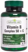 Vitamin B Complex 50 + C - 90 Tabs by Nature's Aid mm